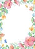 Watercolor rectangular frame Royalty Free Stock Photos