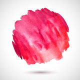 Watercolor-red-blot Royalty Free Stock Photography