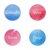 Watercolor red blue Royalty Free Stock Image