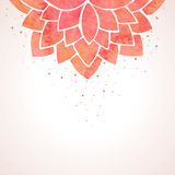 Watercolor red flower pattern. Vector background Royalty Free Stock Photography