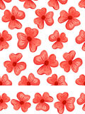 Watercolor red flowers seamless pattern.Baby set Stock Image