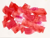 Watercolor red label, background royalty free stock image