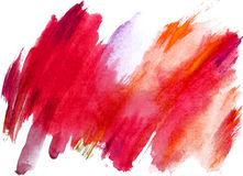 Watercolor. Red and pink abstract watercolor painting Stock Image