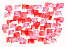 Watercolor red pink lbackground royalty free stock photography