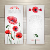 Watercolor red poppies Royalty Free Stock Photography