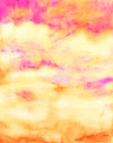 Watercolor red sky abstract texture Stock Photography