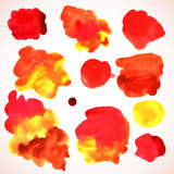 Watercolor red stains Royalty Free Stock Image