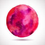 Watercolor-red-violet-blot Royalty Free Stock Photos
