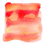 Watercolor red and yellow painted background. And grunge texture Stock Photos