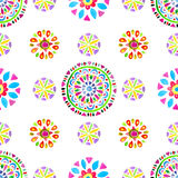 Watercolor Retro pattern of geometric shapes Royalty Free Stock Image