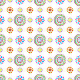 Watercolor Retro pattern of geometric shapes Stock Photos