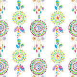 Watercolor Retro pattern of geometric shapes Stock Photography