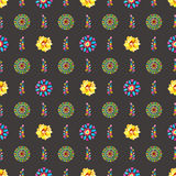 Watercolor Retro pattern of geometric shapes Stock Image