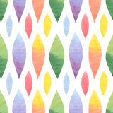 Watercolor Retro seamless pattern Royalty Free Stock Photos