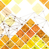 Watercolor rhombus geometric seamless pattern. Brown,Yellow Royalty Free Stock Photography