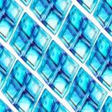 Watercolor rhombus seamless pattern Royalty Free Stock Photos