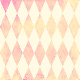 Watercolor rhombus seamless pattern. Geometric vector background Stock Images