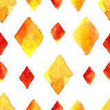 Watercolor rhombus seamless pattern Royalty Free Stock Photo