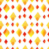 Watercolor rhombus seamless pattern Stock Photography