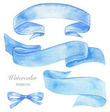 Watercolor ribbon Stock Images