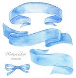 Watercolor ribbon Stock Images