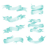 Watercolor Ribbons Stock Images