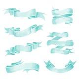 Watercolor Ribbons Stock Images