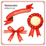 Watercolor ribbons set in vintage style Royalty Free Stock Images