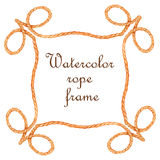 Watercolor rope frame Royalty Free Stock Image