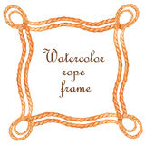 Watercolor rope frame Royalty Free Stock Photo