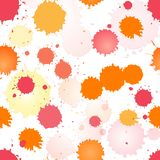 Watercolor rose and orange seamless pattern Stock Image