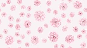Watercolor Roses, Floral Seamless Pattern. royalty free illustration