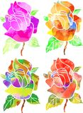 Watercolor Roses Royalty Free Stock Photography