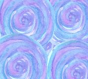 Watercolor round blue and violet background stock illustration