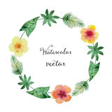 Watercolor round frame Royalty Free Stock Images