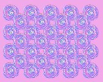 Watercolor round spiral pink pattern royalty free illustration
