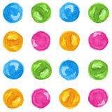 Watercolor rounds seamless Royalty Free Stock Images