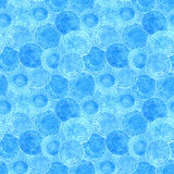 Watercolor rustic blue circles pattern Royalty Free Stock Images
