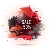 Watercolor-sale-red-gray. Vector watercolor background. Colorful abstract texture. Vector design elements. Vector watercolor splash. Black red art background Royalty Free Illustration