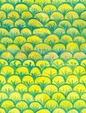 Watercolor Scales seamless pattern, yellow and green,  hand drawn background, fish or mermaid or dragon scales skin