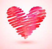 Watercolor scribble heart Stock Photos