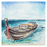 Watercolor Sea background Stock Photography