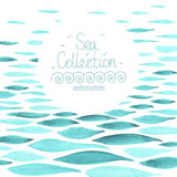 Watercolor sea background Stock Images