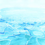 Watercolor sea background made in vector Stock Photos