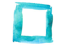 Watercolor sea color frame Stock Photos