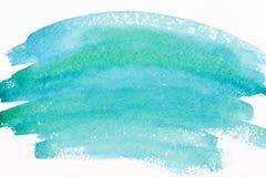 Watercolor sea wave Stock Photo
