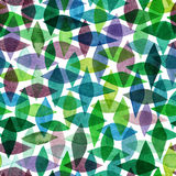 Watercolor seamless abstract hand-drawn pattern, endless modern Royalty Free Stock Photos