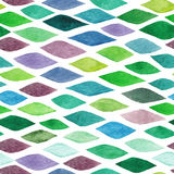 Watercolor seamless abstract hand-drawn pattern, endless modern Royalty Free Stock Images