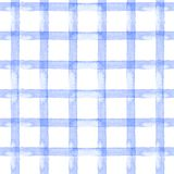 Watercolor seamless background blue stripe, cage on white background Stock Photo