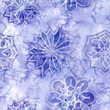 Watercolor seamless background of lilac. With white snowflakes for new year and christmas, oblong with snowflakes, it`s snowing, for decoration and design on vector illustration